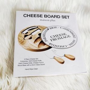 New in Box Cheese Board Set
